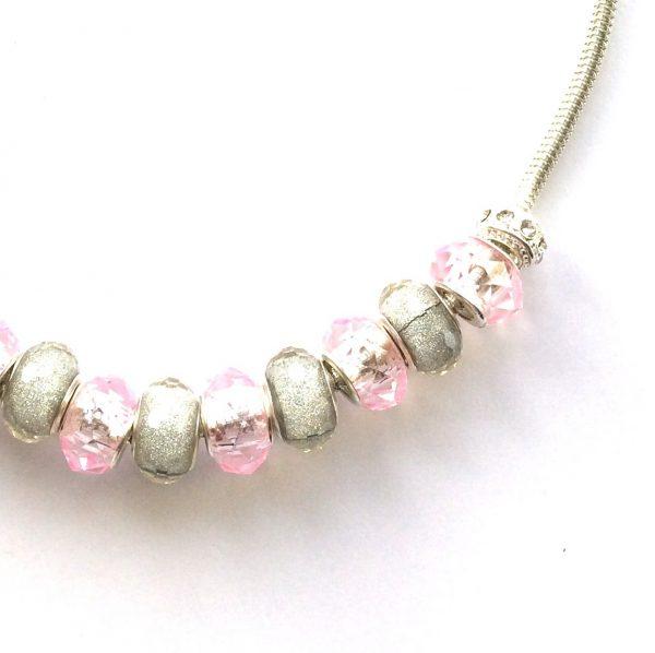 rosa-grå-glitter-glass-smykke