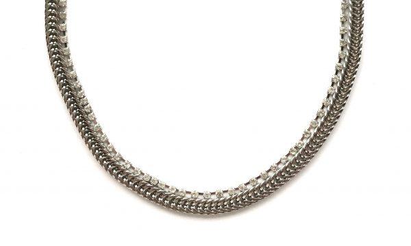 sølv-rhinsten-bling-glitter-smykke-halskjede