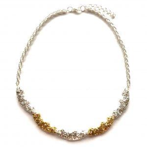 elegant-sølv-gull-smykke-halskjede