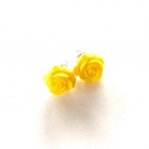 gul-rose-blomst-øredobber-ørepynt
