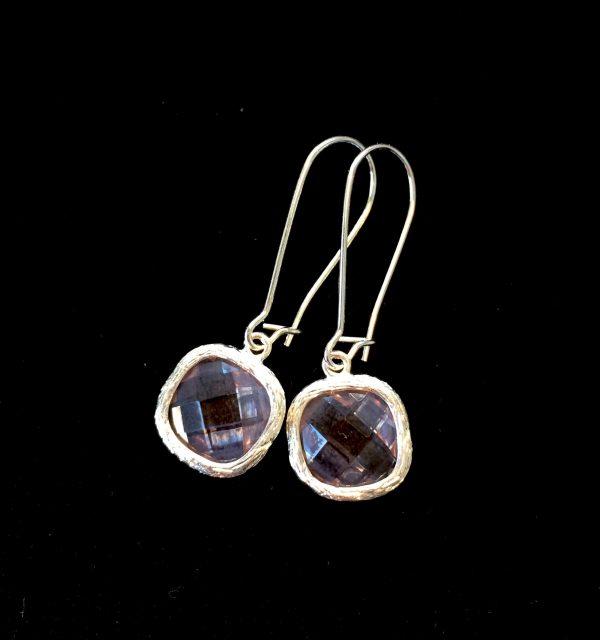 rosa-zirkonia-sølv-øreanheng-ørepynt