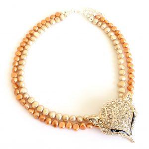 orange-beige-gylden-ferskvannsperle-perle-rev-bling-glitter-smykke