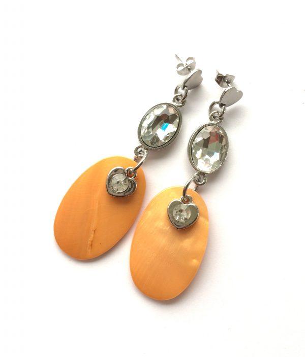 orange-perlemor-hjerte-ørepynt-øreanheng