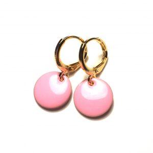 14K-gull-rosa-ørepynt-øreanheng-øreringer