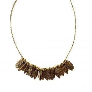 bohem-blad-løv-bronse-smykke-halskjede