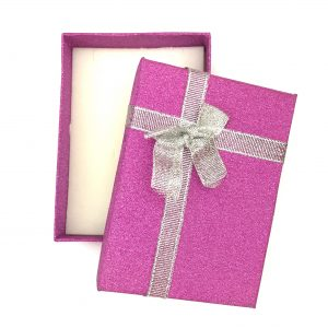 rosa-lilla-cerise-glitter-gaveeske-sløyfe