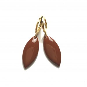 14K-gull-brun-ørepynt-øreanheng-øreringer