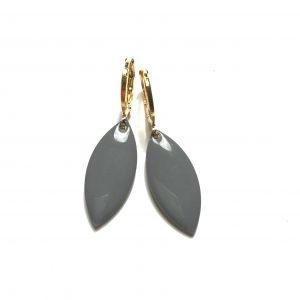 14K-gull-grå-ørepynt-øreanheng-øreringer