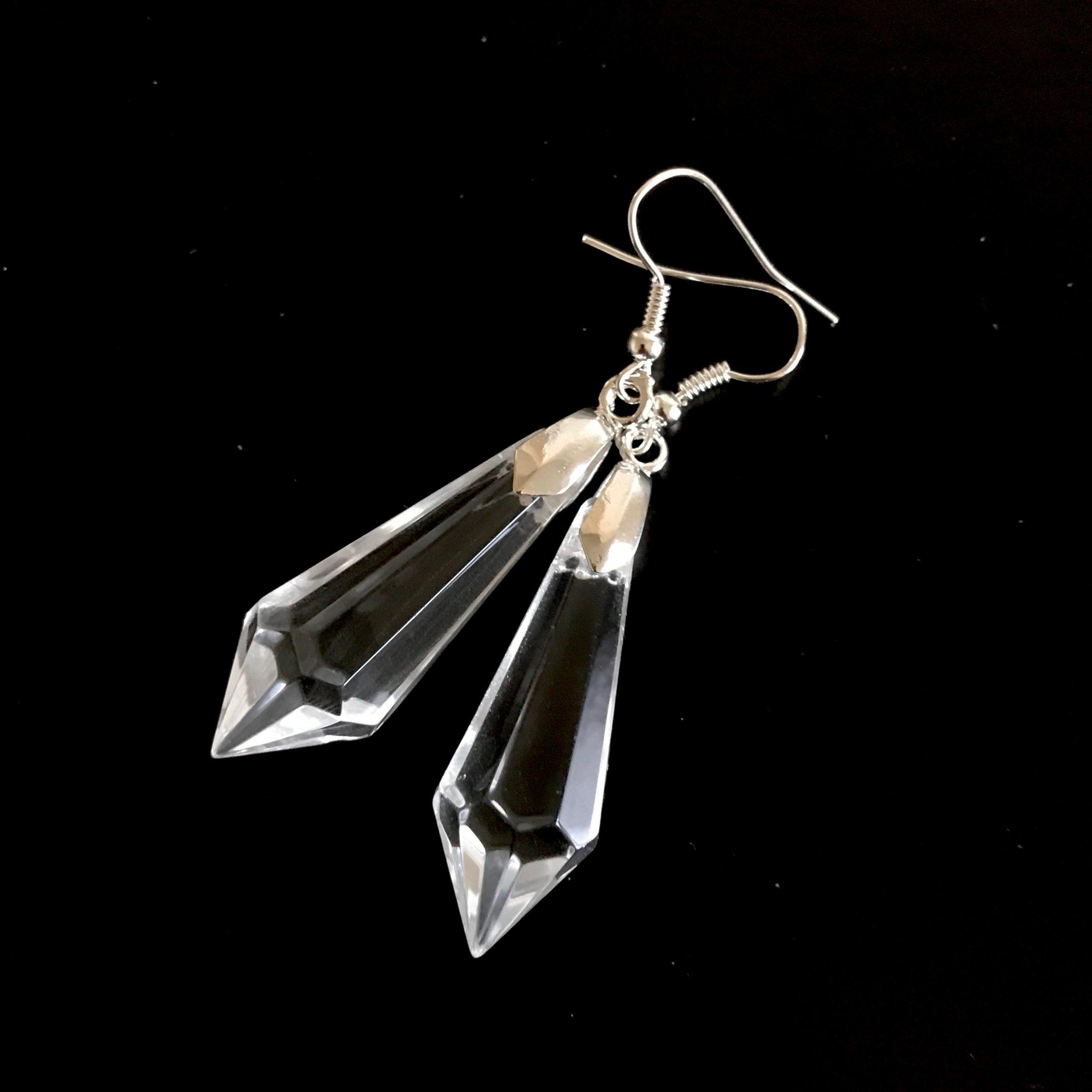 glass-dråpe-sølv-øeanheng-ørepynt