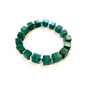 grønn-malachite-elastisk-armbånd