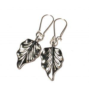 sølv-blad-løv-øreanheng-ørepynt
