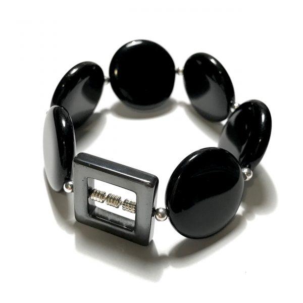 tøff-sort-blodstein-glass-statement-armbånd