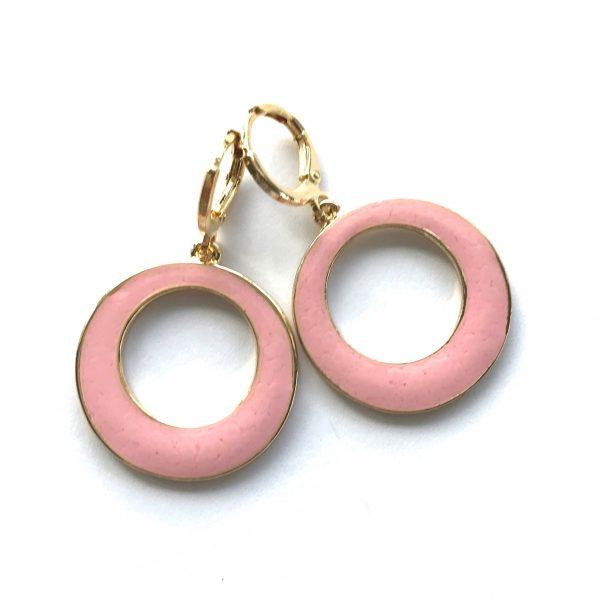 rosa-ring-gull-øreanheng-ørepynt