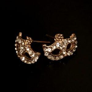 gull-maske-bling-øredobber-ørepynt