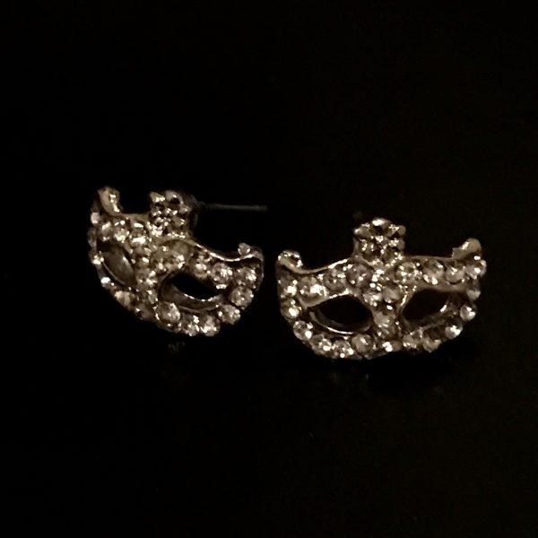 sølv-maske-bling-øredobber-ørepynt