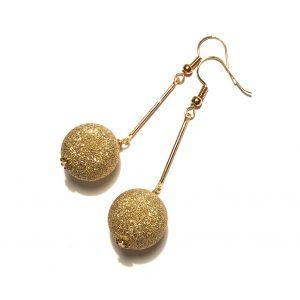 glitter-gull-øreanheng-ørepynt