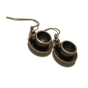 morsom-tekopp-bronse-ørepynt-øreanheng