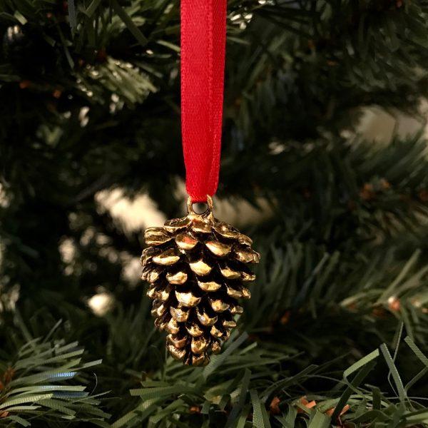 gull-kongle-rød-juletrepynt-julepynt