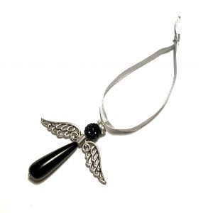 sølv-sort-grå-engel-glorie-juletrepynt-julepynt