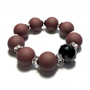 brun-sort-tøff-statement-elastisk-armbånd