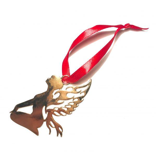 gull-engel-alv-rød-juletrepynt-julepynt