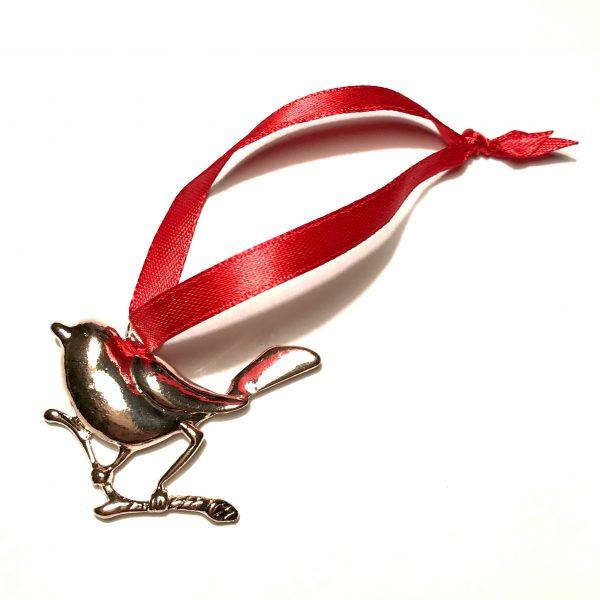 rose-gull-fugl-rød-juletrepynt-julepynt