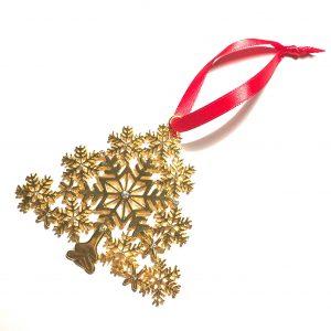gull-bling-juletre-rød-juletrepynt-julepynt