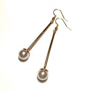 perle-elegant-klassisk-gull-øreanheng-ørepynt