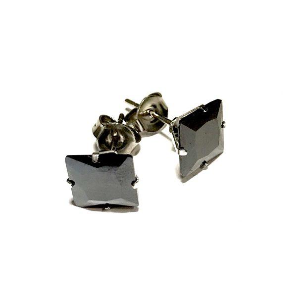 sort-zirkonia-stål-øredobber-ørepynt