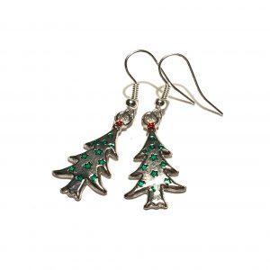 sølv-jul-juletre-ørepynt-øreanheng