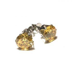gul-zirkonia-stål-øredobber-ørepynt