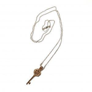 nøkkel-smykke-kulelenke-halskjede