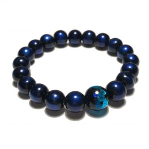 blå-glass-elastisk-armbånd