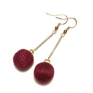 rød-gull-øreanheng-ørepynt