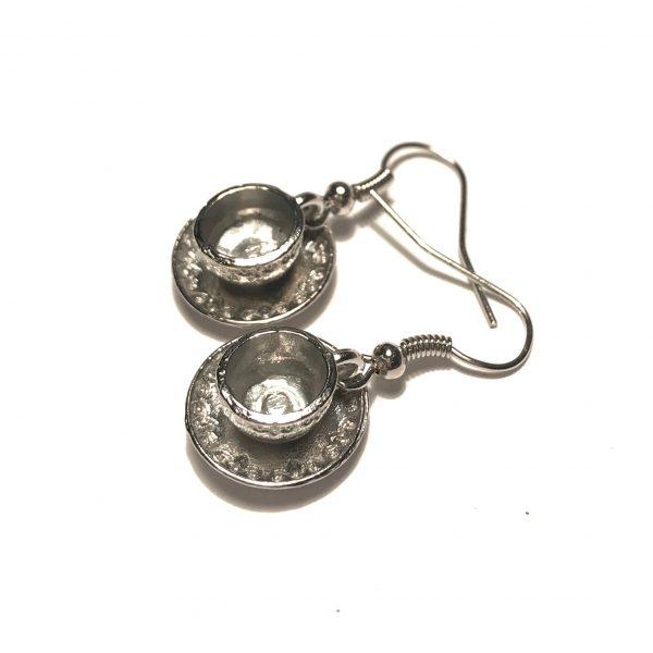 sølv-tekopp-ørepynt-øreanheng