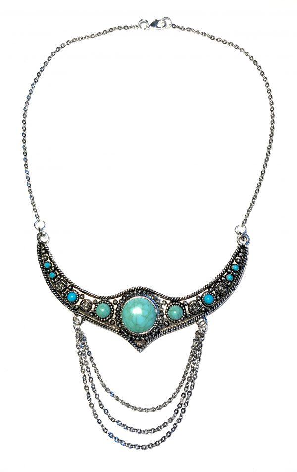 bohem-turkis-smykke-halskjede