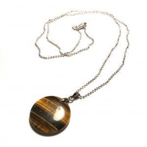 brun-tigerøye-smykke-halskjede