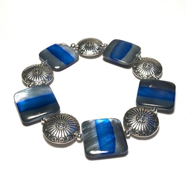 blå-skjell-armbånd