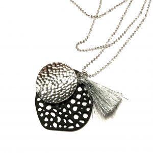 sort-sølv-dusk-smykke-halskjede