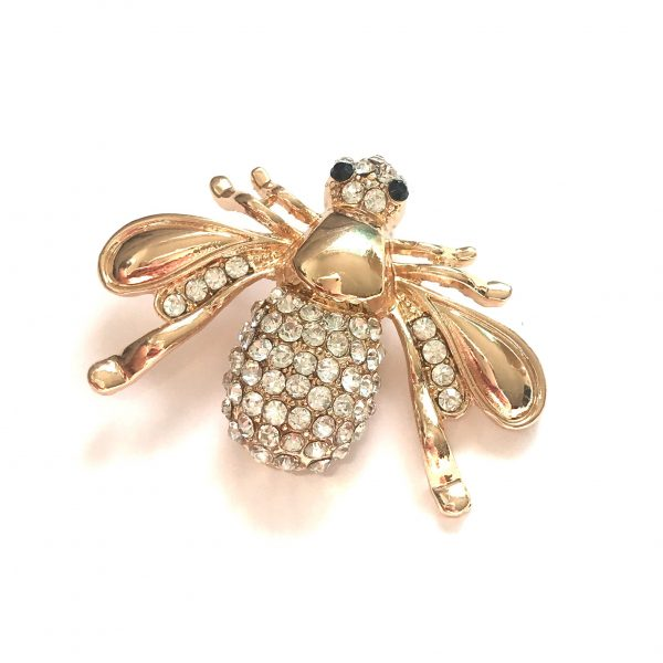 gull-bling-bille-insekt-brosje-nål