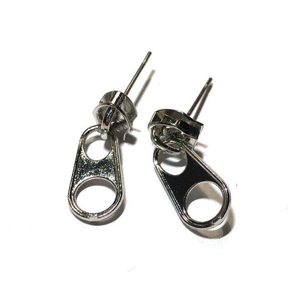 sølv-glidelås-morsom-ørepynt-øredobber