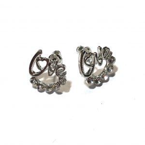sølv-bling-love-øredobber-ørepynt