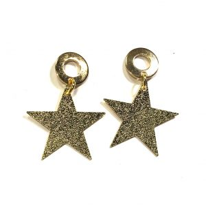 gull-stjerne-stål-jul-øreanheng-ørepynt