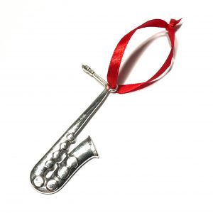 sølv-rød-instrument-saksofon-juletrepynt-julepynt