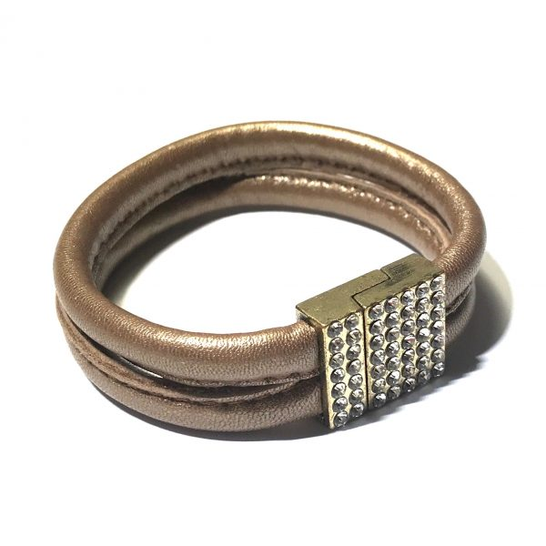 brun-gylden-glitter-bling-lammeskinn-armbånd