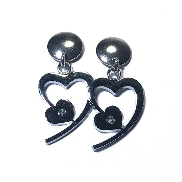 stål-hjerte-øreanheng-ørepynt