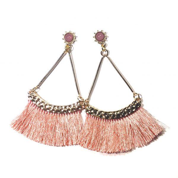 rosa-dusk-tassel-øreanheng-ørepynt