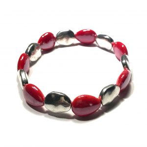 rød-keramikk-sølv-armbånd