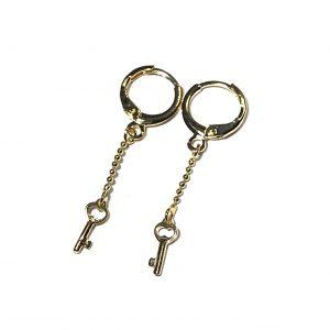 gull-nøkkel-øreanheng-ørepynt