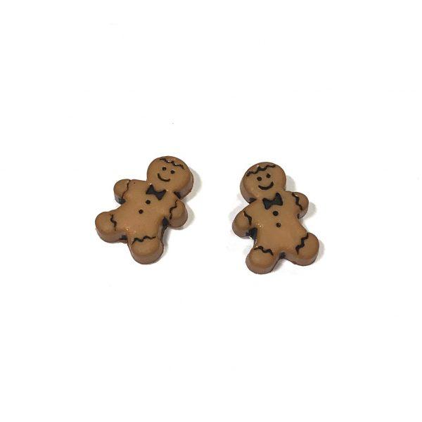 brun-pepperkake-jul-øredobber-ørepynt